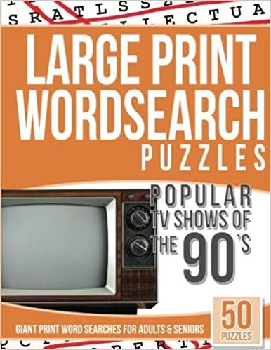 Amazon Com Large Print Wordsearches Puzzles Popular Tv Shows Of The
