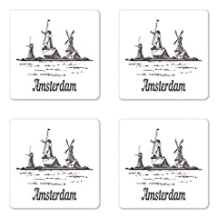 "Entertain your guests by using these fun coasters! Measurements: 3.5"" by 3.5"" inches and 5mm thick with non - slip hardboard backing. Perfect for your home, garden, restaurant, office, cafe, bar, club, studio. With tens of 1000's of fresh and..."