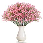 Bosslandy-Babys-Breath-Artificial-Flowers-Fake-Bule-Bouquet-of-Flowers-for-Wedding-12-Pcs-Faux-Dried-Babys-Breath-Crown-Silk-Real-Touch-Gypsophila-for-Home-Party-Garden-DecorationPink