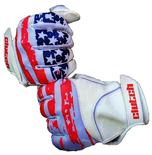 Clutch Sports Apparel American Flag Baseball & Softball Batting Gloves (American Flag, Youth Small/Medium)