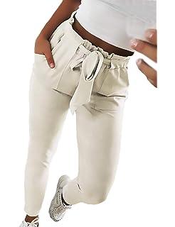 Femme Jupe Crayon Automne Taille Haute Pantalon De Loisirs Rayures  Verticales Poches Avant avec Ceinture Slim e56565dd6927