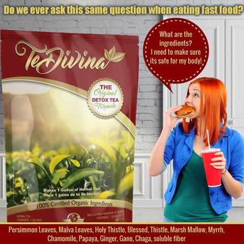 Best Seller Authentic,In stock,TeDivina 6 weeks supply supply,coming back of the''ORIGINAL''detox tea, way more effective than iaso tea by Vida Divina Te Divina (Image #3)
