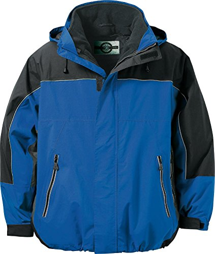 North End Mens Techno Performance 3-in-1 Waterproof Jacket. 88052 - Large - Royal Cobalt / Black / - North Performance End Techno