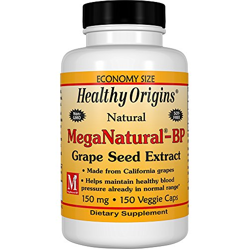 Healthy Origins Mega Natural BP-Grape Seed Extract, 150 Mg, 150 Count