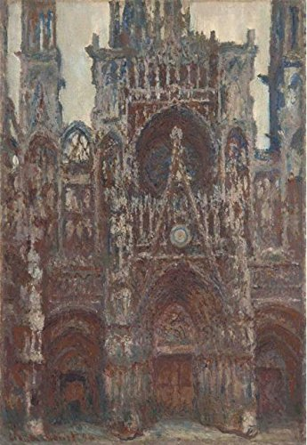 The High Quality Polyster Canvas Of Oil Painting 'Rouen Cathedral, Harmony In Brown, 1894 By Claude Monet' ,size: 16x23 Inch / 41x59 Cm ,this Best Price Art Decorative Prints On Canvas Is Fit For Home Theater Decor And Home Decor And Gifts