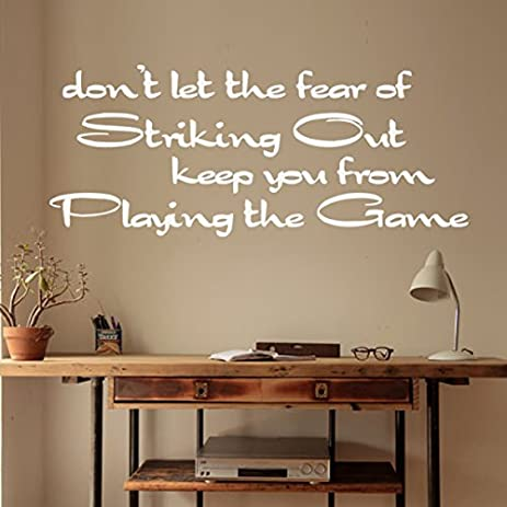 Donu0027t Let The Fear Of Sticking Out Inspirational Wall Decal Baseball Wall  Sticker Vinyl