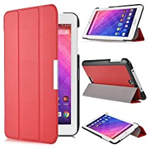 Acer Iconia One 7 B1-780 case, KuGi ® Acer Iconia One 7 B1-780 case - High quality ultra-thin Smart Cover Case for Acer Iconia One 7 B1-780 Tablet (Red)