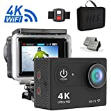 4K WIFI Action Camera Sports DV Underwater Camera Ultra HD Waterproof Camera 12MP 170 Degree Wide Angle With Remote control