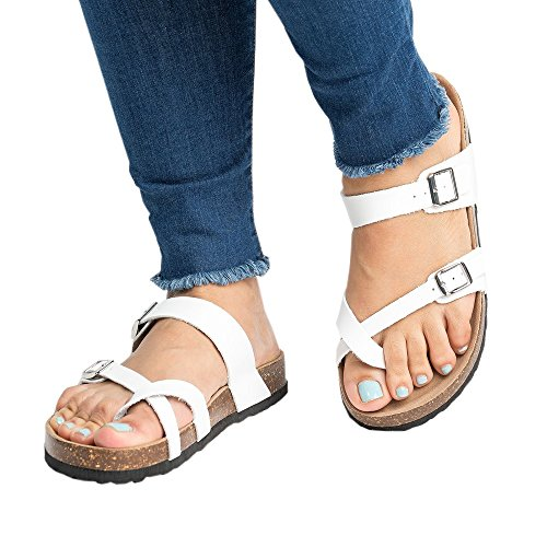 Womens Flat Sandals Ankle Strap Buckle Platform Beach Flip Flop Gladiator Thong Summer - Shoes Platform Thong