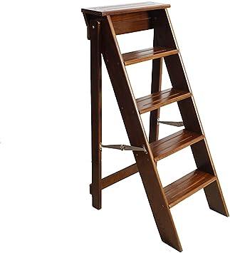 XMGJ Escaleras extensibles Taburete escalonado - - Escalera plegable de 5 capas de pino escalonada Escalera escalonada Escalera multifunción doméstica (tamaño 38 X 50 X 88 cm) (Color : A): Amazon.es: Bricolaje y herramientas