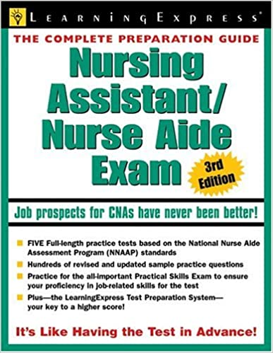 Nursing assistantnurse aide exam 3rd edition nursing assistant nursing assistantnurse aide exam 3rd edition nursing assistantnurse aide exam 9781576855478 medicine health science books amazon fandeluxe Image collections