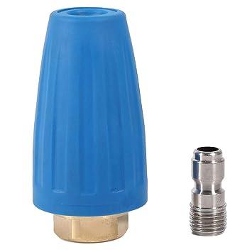 FTVOGUE Boquilla orientable del Turbo, 3000 PSI orientable Spray Boquilla Turbo para hidrolimpiadoras Alta presión Limpiador Pistola Rotating 1/10 Quick ...