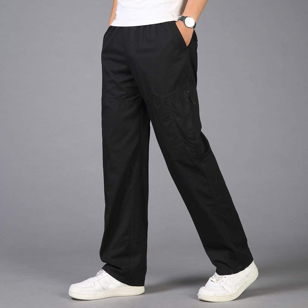 Pantalones para Hombre,Tallas Grandes Suelto Pantalones Casuales Moda Trabajo Pantalones Jogging Pants Fitness Chandal Hombre Largos Pantalones Ropa de Hombre Pantalones de Trekking