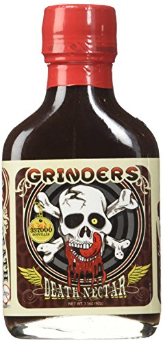Grinders Death Nectar - Extremely Hot - Ghost Pepper Hot Sauce 3.5 oz
