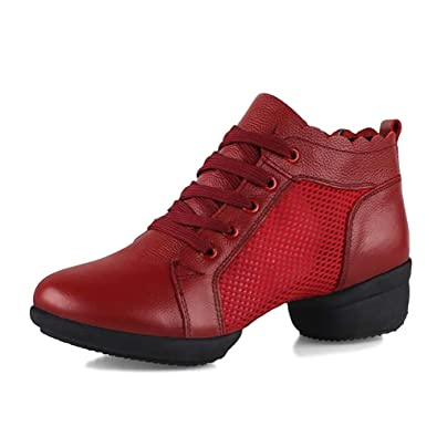 9e130eb471d Amazon.com   JINZFJG-SX Women's Dance Shoes Genuine Leather Modern ...