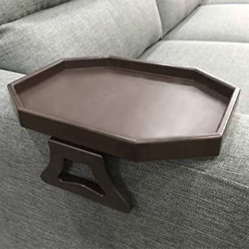CLEVER BEAR Sofa Arm Clip Table,Sofa Armrest Tray Armrest Tray Table Drinks Snacks Holder,FDA Approved Wine Red