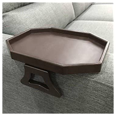 Sofa Arm Clip Table, Armrest Tray Table, Drinks/Remote Control/Snacks Holder