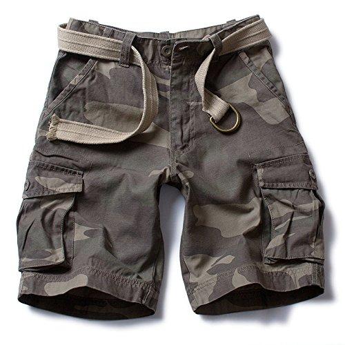 WDDGPZDK Strand Shorts/Mode Militärischen Sommer Shorts Men Baumwolle Legere Shorts  Herren