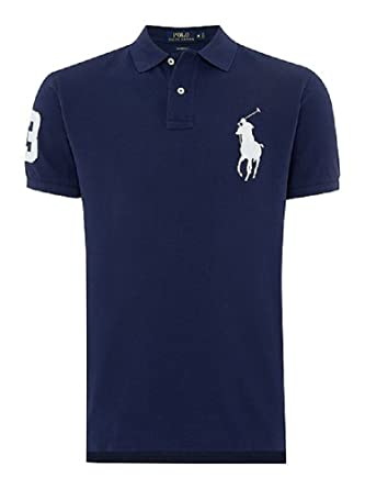 Polo Ralph Lauren 710655399001 Polo Hombre Azul M: Amazon.es: Ropa ...