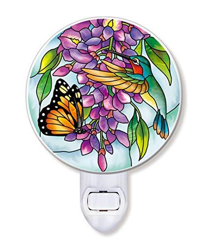 Amia Wisteria Glass Night Light, Multicolor