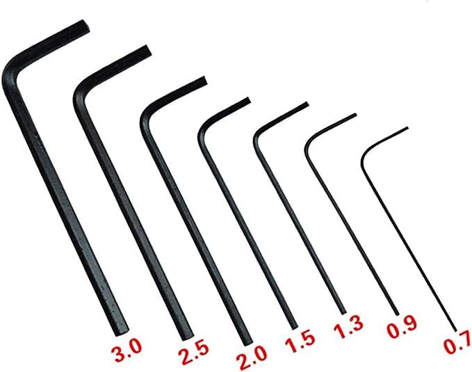 7Pcs//lot 0.7mm-3mm Mini Hexagon Hex Allen Key Set Wrench Screwdriver Tool KiY/_dy