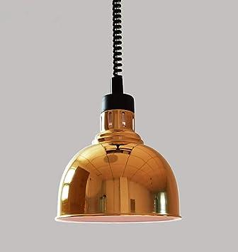Lustre Led Métal Lampe Une gold À Mode La Pour D'échecs 250w Salle Buffet Éclairage E27 Chauffante Tête 25cm HE2WD9I