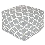 Majestic Home Goods Trellis Ottoman, Large, Gray
