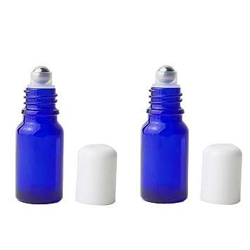 7f146ee53365 Amazon.com: 3PCS 20ml/0.67oz Empty Refillable Blue Glass Perfume ...