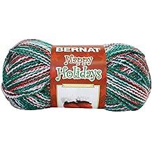 Bernat 16413131713 Happy Holidays Yarn, 3.5 Ounce, Merrier Multi, Single Ball
