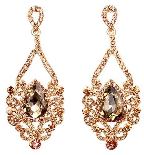 SunIfSnow Women Luxury Crystal Palace Aristocratic Nightclubs Banquet Earrings