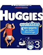 HUGGIES OverNites Diapers, Size 4 (22-37 lb.), 68 ct, Overnight Diapers, Giga Jr Pack (Packaging May Vary)
