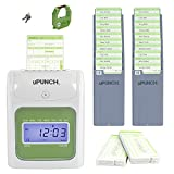 uPunch HN3500 Time Clock Bundle with 100-Cards and Two 10-Slot Card Racks
