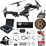 DJI Mavic Air Drone Combo 4K Wi-Fi Quadcopter with Remote Controller Pro Photo Edit Bundle With Hard Case VR Goggles Landing Pad 32GB Memory Card 16GB Drive And Corel Pro X9 (Arctic White)