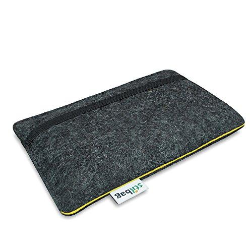 Stilbag Filztasche 'FINN' für Apple iPhone 6s - Farbe: anthrazit/gelb
