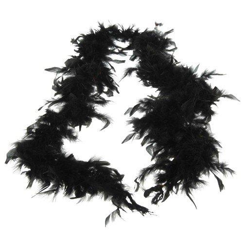 FEATHER BOA/BLACK (CP)