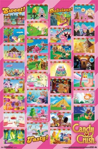 Candy Crush Saga - Worlds Grid Art Print Poster