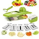 Bagonia Mandoline Slicer Adjustable Vegetable Slicer 5 Interchangeable Blades Stainless Steel Fruit Cutter Grater Vegetable Tools