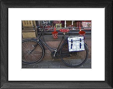 Cuadro de diseño con una vieja bicicleta alforja Delft. Amsterdam, Holanda, Europa: Amazon.es: Hogar
