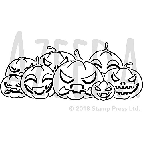 Azeeda A4 'Halloween Pumpkins' Wall Stencil / Template (WS00002261)