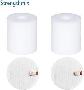 Strengthmix 2 Pack Replacement Foam & Felt Filter Set Fits Shark Rotator Pro NV500, NV500CO, NV501, NV502, NV503, NV500W & NV550 Vacuums, Part # XFF500 XFF500