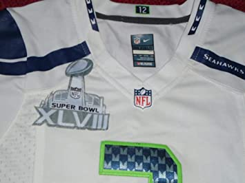 8c5d52b23 ... store new russell wilson seattle seahawks nike on field super bowl jersey  womens xs 84273 1012f