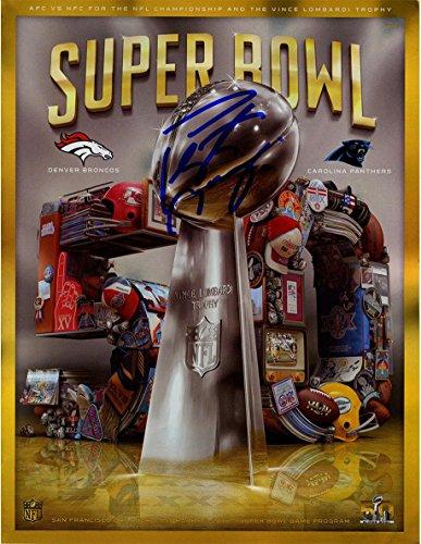 NFL Denver Broncos Peyton Manning Signed Super Bowl 50 Program