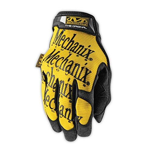 Mechanix Wear MG-01-011  Original MG050 Synthetic Leather Palm Mechanics Gloves with Padded Back, XL, (Leather Palm Mechanics Glove)