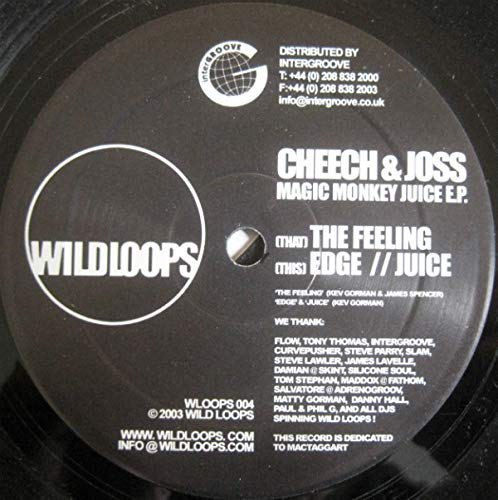 Cheech & Joss - Magic Monkey Juice EP - Wild Loops: Cheech & Joss ...