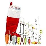 Lucky Strike 20 piece Fishing Lure Christmas Stocking