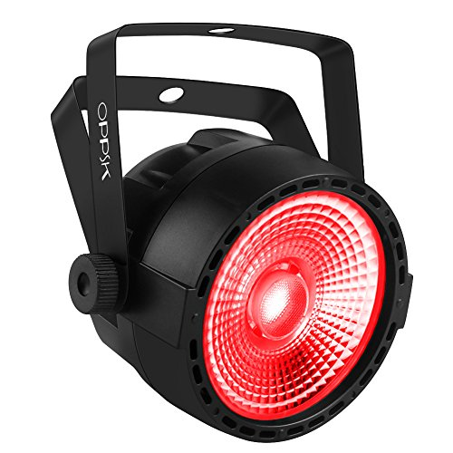 Stage Light, OPPSK Par Can Lights with COB RGB Tricolors by Remote DMX Control Par Lights for Stage Lighting Church Bar Club Uplighting for Wedding DJ Lights Party