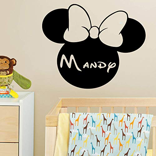 Amazon Com Mickey Mouse Minnie Mouse Wall Decal Boy And Girl Name