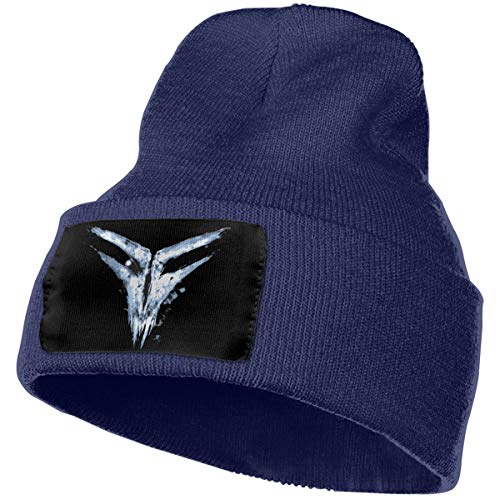 (Hodenr Mens & Womens Fear Factory Skull Beanie Hats Winter Knitted Caps Soft Warm Ski Hat Navy)