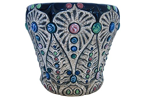 Amphora Pottery Vintage Jeweled Art Nouveau Cachepot Jardiniere