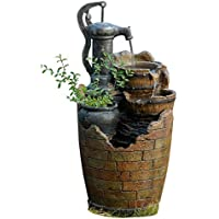 glenville water pump cascading water fountain - Fountain For Home Decoration
